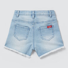 Frayed Denim Shorts  SUMMER BLUE  hi-res