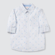 Printed Shirt  CORNFLOWER BLUE  hi-res