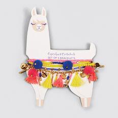 Llama Bracelets 5 Set  MULTI  hi-res