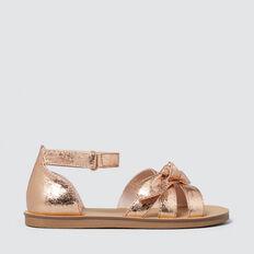 Cracked Bow Sandal  ROSE GOLD  hi-res