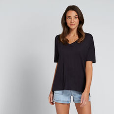 Slouchy V-Neck Tee  DEEP NAVY  hi-res