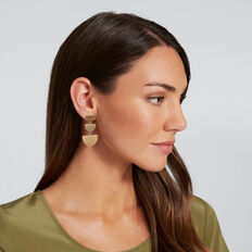 Tiered Shape Earrings  GOLD  hi-res
