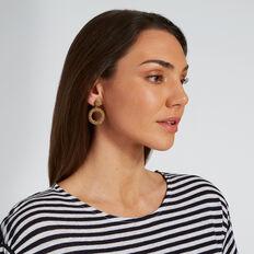 Mini Beaded Drop Earrings  GOLD  hi-res