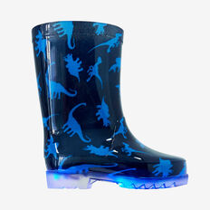 Toddler Light Up Gumboots  NAVY  hi-res
