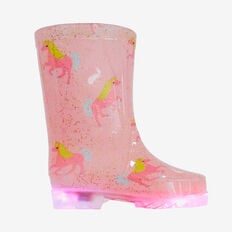 Toddler Light Up Gumboots  PINK  hi-res