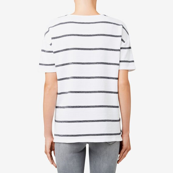 Revoir Textured Top  MULTI STRIPE  hi-res