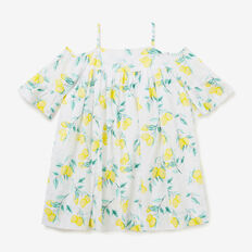 Lemon Off Shoulder Dress  MULTI  hi-res