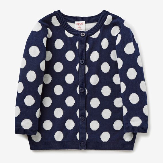 Spot Knit Cardigan  NAVY  hi-res