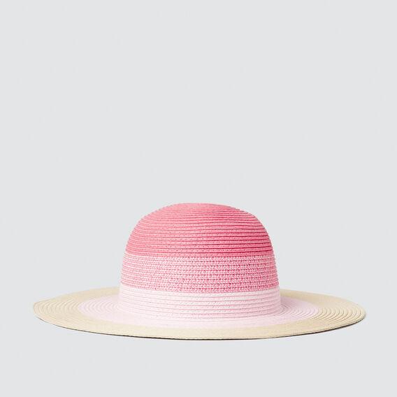 Colour Block Floppy Hat  PINK  hi-res