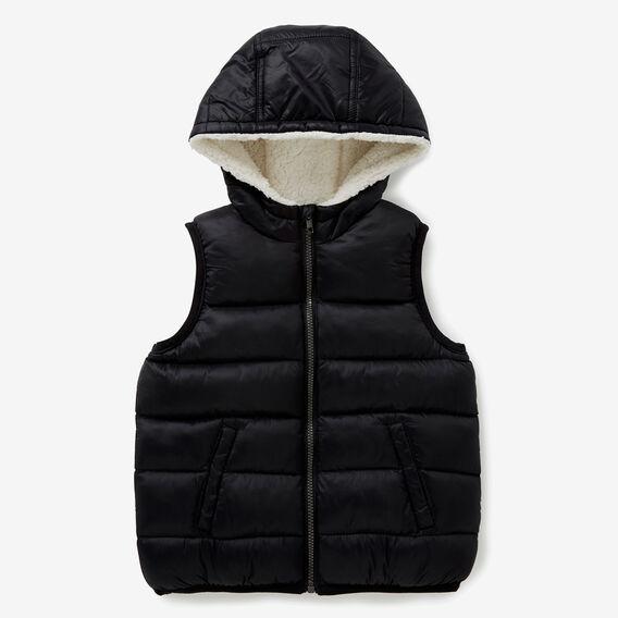 Puffa Vest  BLACK  hi-res