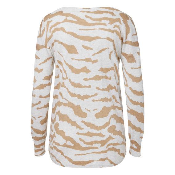 Hi Lo Ocelot Sweater  MULTI  hi-res