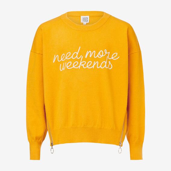 Slogan Sweater  SUNFLOWER  hi-res