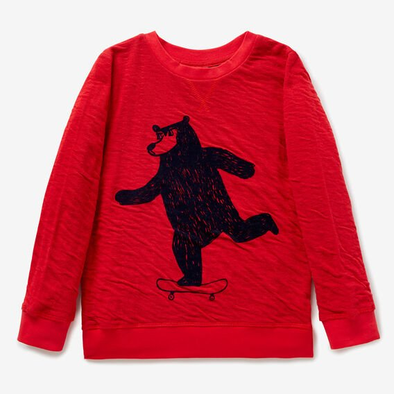 Double Jersey Sweater  BRICK RED  hi-res
