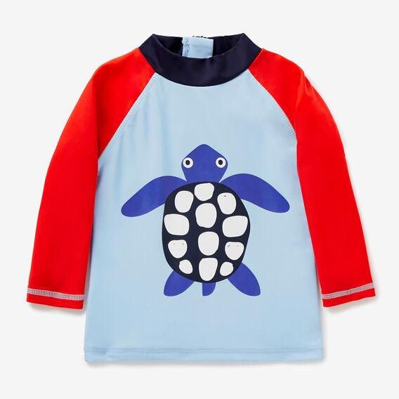 Novelty Turtle Rashie  NORDIC BLUE  hi-res