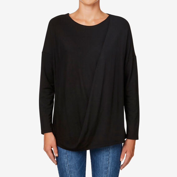 Drape Top  BLACK  hi-res