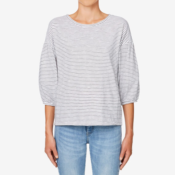 Boxy Blouson Sleeve Top  BLACK/WHITE STRIPE  hi-res