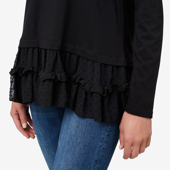 Dobby Hem Top  BLACK  hi-res