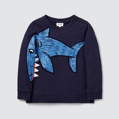 Novelty Shark Sweater  MIDNIGHT BLUE  hi-res