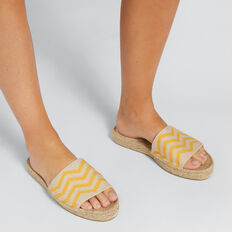 Woven Flatform Slide  AMBER YELLOW  hi-res