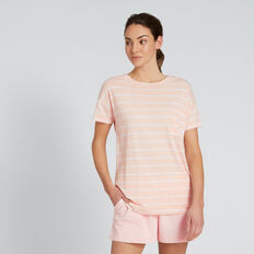 Dipped Tee  PEACH STRIPE  hi-res