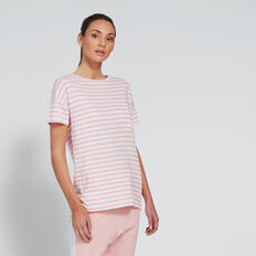 Dipped Tee  PINK STRIPE  hi-res