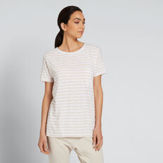 Dipped Tee  WINTER OAK STRIPE  hi-res