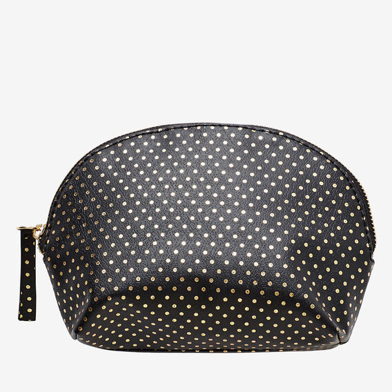 Half Moon Make Up Bag  BLACK  hi-res