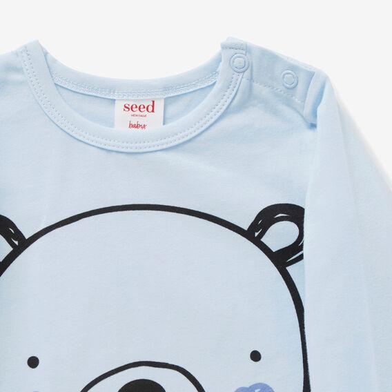 Big Bear Print Tee  PACIFIC BLUE  hi-res