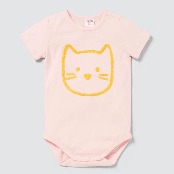 Chenille Cat Bodysuit  PALE PEACH  hi-res