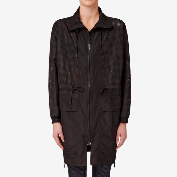 Mesh Long Jacket  BLACK  hi-res