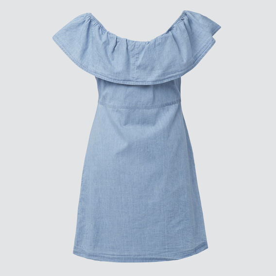 Chambray Dress  BLUE CHAMBRAY  hi-res