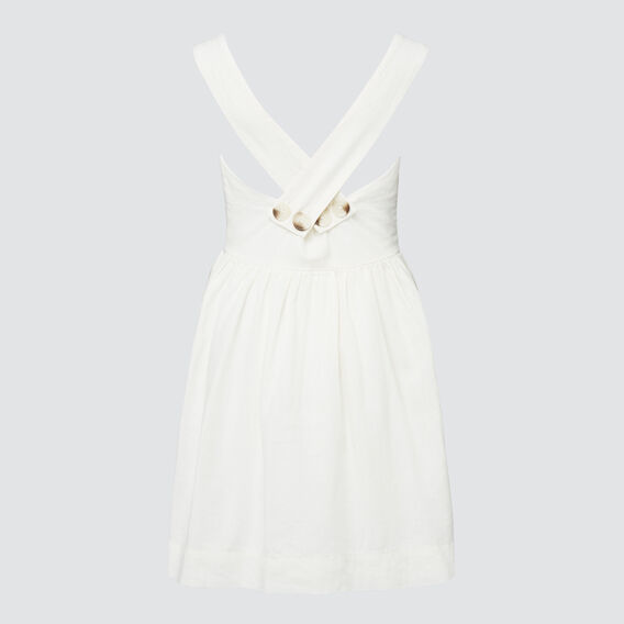 Linen Dress  WHITE WASH  hi-res