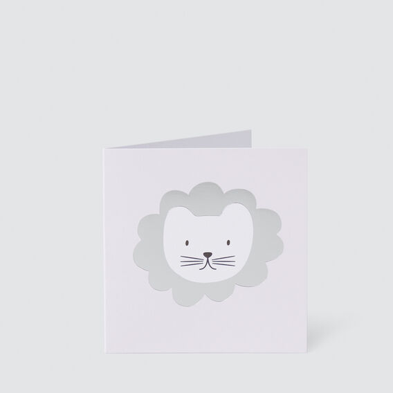Small Pink Lion Card  MULTI  hi-res