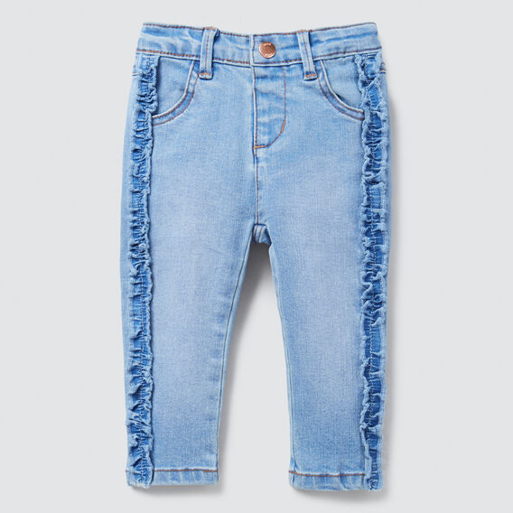 Frill Jeans  BRIGHT WASH  hi-res