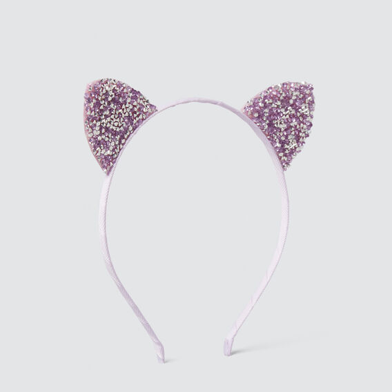 Gem Stone Ears Headband  LILAC  hi-res
