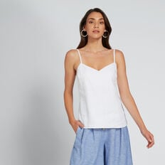 Linen Cami  WHISPER WHITE  hi-res