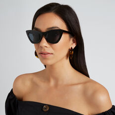 Libby Cat Eye Sunglasses  BLACK  hi-res