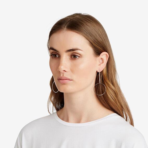Circle Drop Earrings  SILVER  hi-res