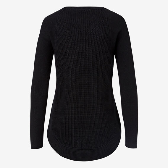 Curve Hem Zip Sweater  BLACK  hi-res