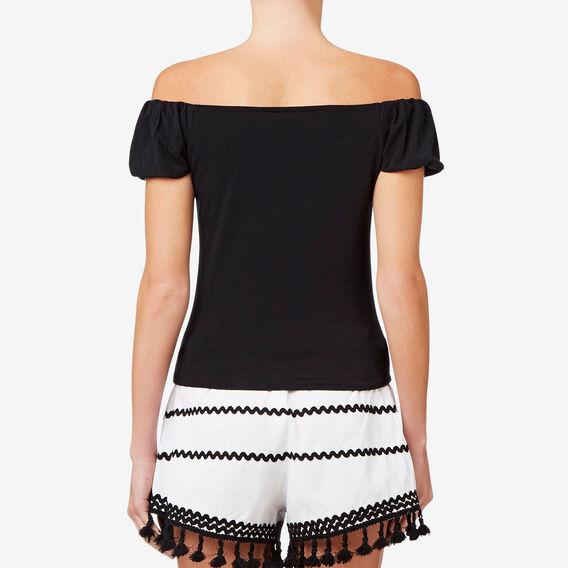 Blouson Sleeve Top  BLACK  hi-res