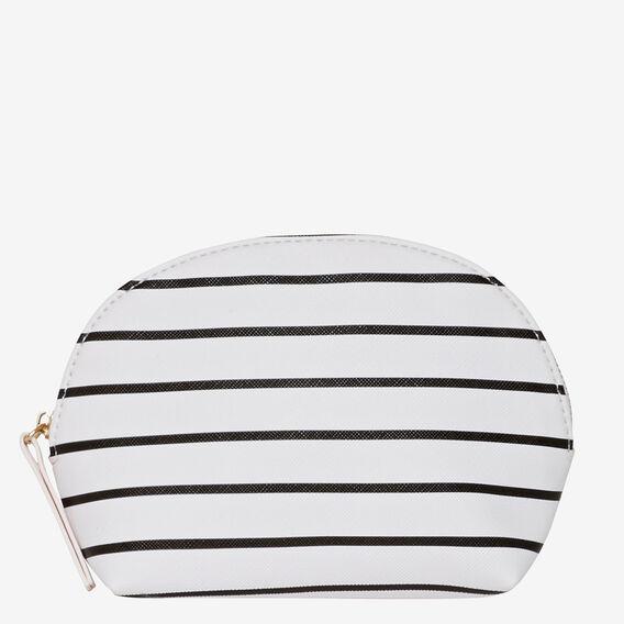 Half Moon Make Up Bag  WHITE STRIPE  hi-res