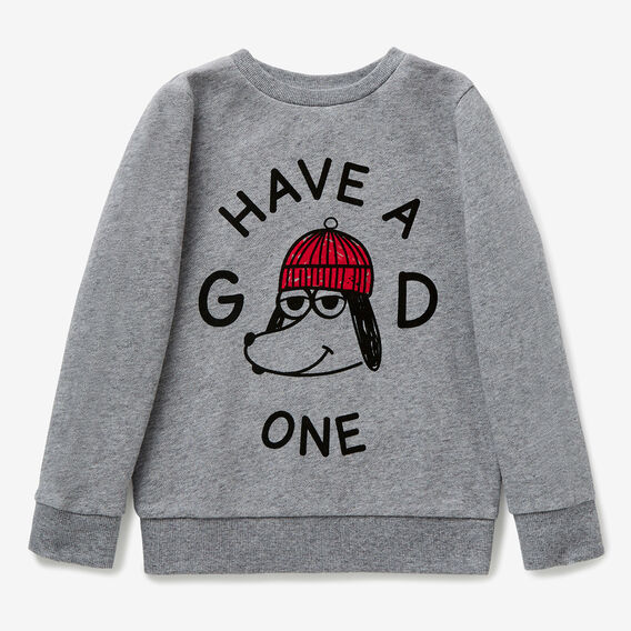 Have A Good One Sweater  STONE GREY MARLE  hi-res