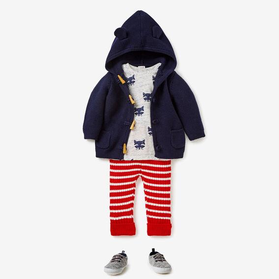 Knit Stripe Rib Pants  BRICK RED  hi-res