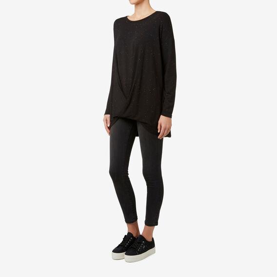 Cosy Drape Top  BLACK FLECK  hi-res