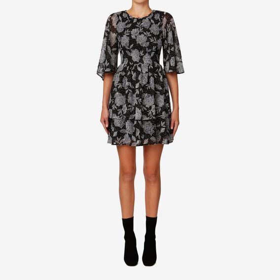 Shirred Dress  FLORAL  hi-res