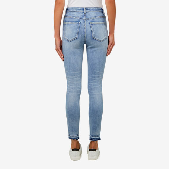 Mid-Rise Turndown Jean  LIGHT DENIM  hi-res