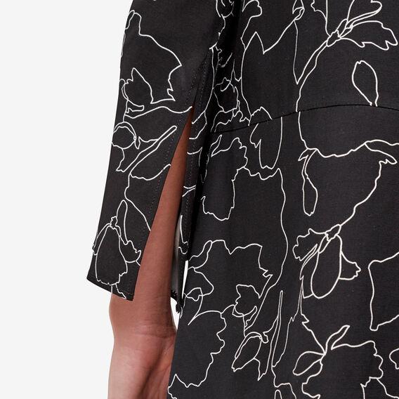 Floral Outline Blouse  BLACK FLORAL  hi-res