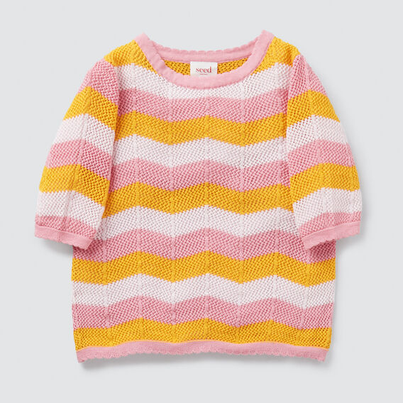 Crochet Tee  MULTI  hi-res