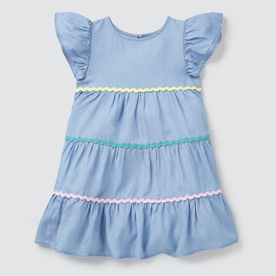 Ric Rac Tiered Dress  SUMMER BLUE  hi-res