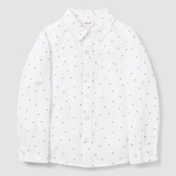 Linen Spot Shirt  VINTAGE WHITE  hi-res